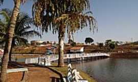 Palmeiras de Goiás - Palmeiras de Goiás-GO-Coqueiro na beira do Lago Azul-Foto:wender marques