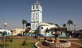 Palmeiras de Goiás - Palmeiras de Goiás-GO-Praça e Matriz de São Sebastião-Foto:wender marques