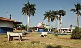 Palmeiras de Goiás - Palmeiras de Goiás-GO-Praça e suas palmeiras-Foto:wender marques