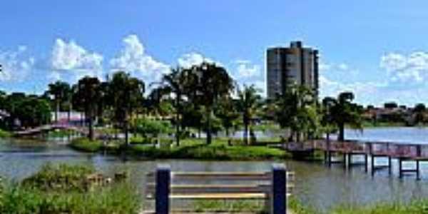 Palmeiras de Goiás-GO-Ilha no Lago Municipal-Foto:Arolldo Costa Oliveira