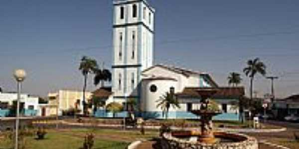 Palmeiras de Goiás-GO-Praça e Matriz de São Sebastião-Foto:wender marques