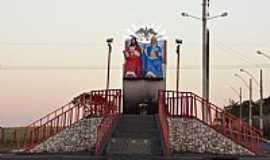 Panamá - Panamá-GO-Monumento de bronze ao Divino Pai Eterno no trevo da BR-153,que dá acesso à cidade-Foto:Pe. Edinisio Pereira…