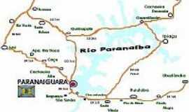 Paranaiguara - Mapa de localização