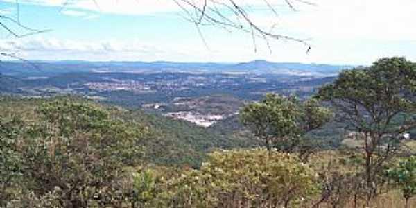 Pirenópolis-GO-Parque Estadual dos Pireneus, vista do Morro do Ventilador-Foto:Josue Marinho
