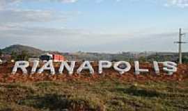 Rianápolis - Entrada da cidade-Foto:Rubens da Silva Ramo…