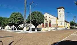 Santa Cruz de Goiás - Praça e Paróquia de Santa Cruz de Goiás-GO-Foto:jackson a de moura
