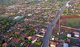 Santa Helena de Goiás - Santa Helena de Goiás-GO-Vista aérea do centro-Foto:mochileiro.tur.br