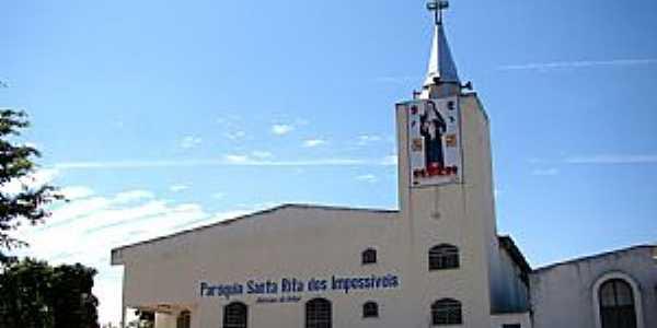 Santa Rita do Araguaia-GO-Matriz de Santa Rita de Cássia-Foto:Vicente A. Queiroz