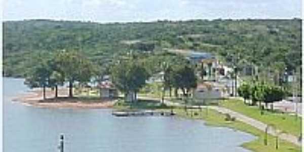 Área de lazer na orla de São Domingos-GO-Foto:Dimas Justo