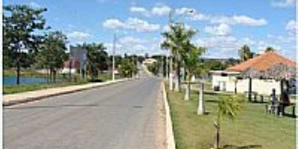 Avenida de entrada de S�o Domingos-GO-Foto:Dimas Justo