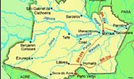 Itacoatiara - Mapa de Localiza��o