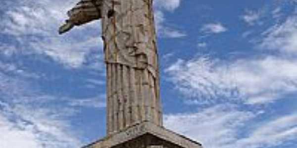 Senador Canedo-GO-Cristo no Morro Santo Antônio-Foto:Murilo Caixeta - Arq…