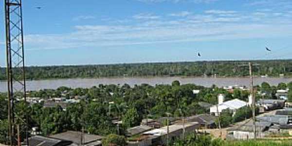 Itamarati-AM-Centro do Distrito e o Rio Juruá-Foto:Wiliam Braun