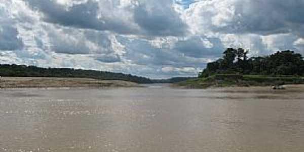 Itamarati-AM-Lago formado na curva do Rio Juruá-Foto:Wiliam Braun