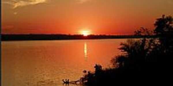 Lagoa Santa-GO-Pôr do Sol no Rio Aporé-Foto:lagoasanta.go.gov.br
