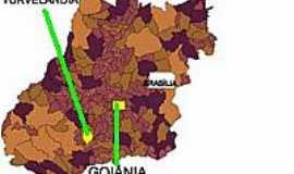 Turvelândia - Mapa de Localização - Turvelândia-GO