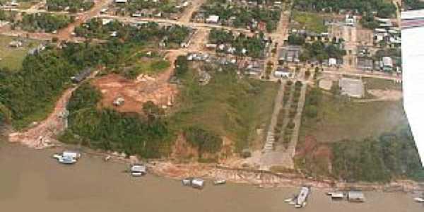 Japurá-AM-Vista aérea da orla-Foto:santelli