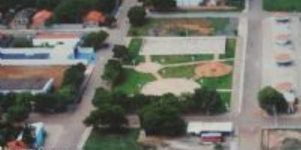 Vista aérea da praça Ana Félix, Por Altino Dias Reis