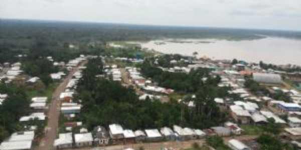 Vista aérea da cidade de juruá-am, Por Jardel Felix