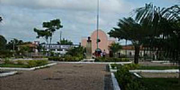 Praça Gonçalves Dias,Praça da Matriz, em Aldeias Altas-MA-Foto:Isaias Cunha
