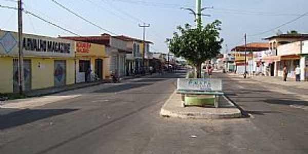 Amapá do Maranhão-MA-Avenida principal-Foto:Jocilson Feitosa