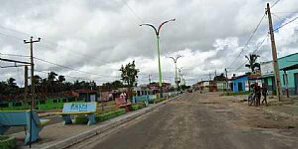 Amapá do Maranhão-MA-Avenida principal-Foto:PEDRO PAULO