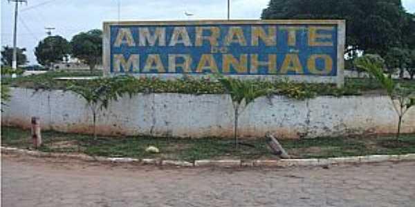 Amarante do Maranhão-MA-Entrada da cidade-Foto:www.barradocorda.com