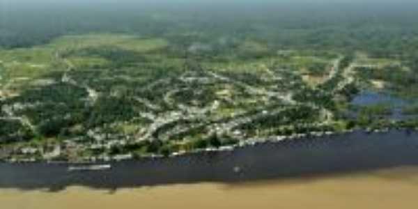 Foto aérea da Cidade de Jutaí, Por Ráriton