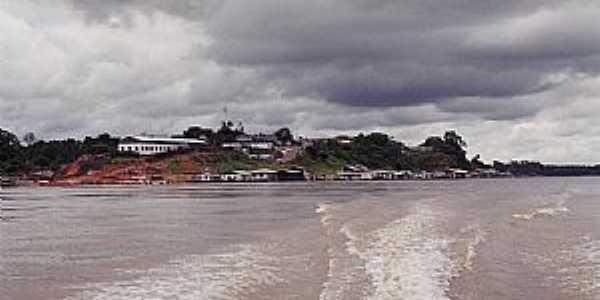 Jutaí-AM-Vista do Porto e da cidade-Foto:santelli