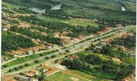 Araguanã - Araguanã-MA-Vista aérea da Rodovia BR-316 na cidade-Foto:Vania Silva