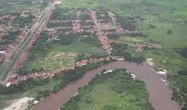 Araguanã - Araguanã-MA-Vista aérea do Rio Turi e a cidade-Foto:Vania Silva