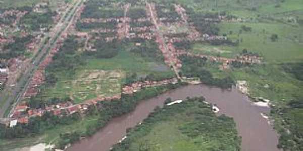 Araguanã-MA-Vista aérea do Rio Turi e a cidade-Foto:Vania Silva