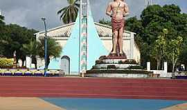 Bacuri - Bacuri-MA-Praça São Sebastião com estátua do santo-Foto:Edilson Jr