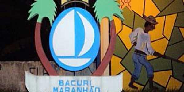 Bacuri-MA-Mural na Praça São Sebastião-Foto:Edilson Jr