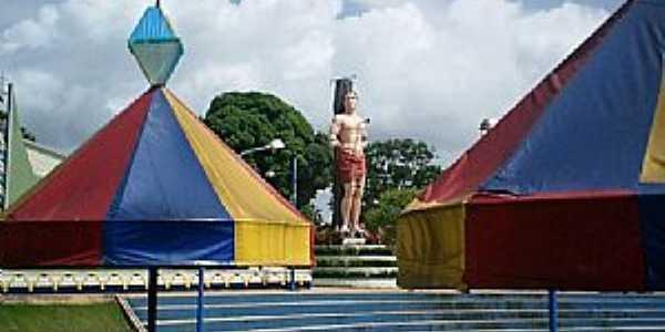 Bacuri-MA-Praça São Sebastião-Foto:Sufares