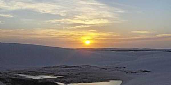 Barreirinhas-MA-Pôr do Sol nos Lençóis Maranhenses-Foto:LUCIO G. LOBO JÚNIOR