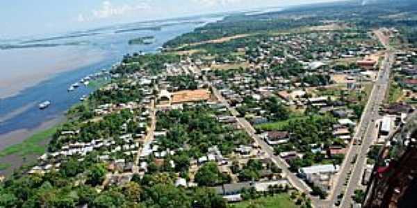 Manacapuru-AM-Vista aérea da cidade-Foto:mochileiro.tur.br