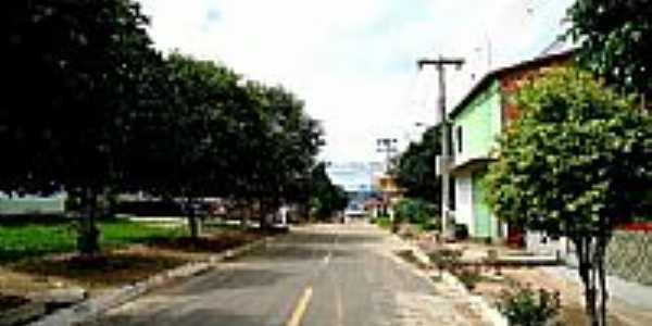 Rua Domingos Pereira de Castro,centro de Buritirama-Foto:JOSE WILSON