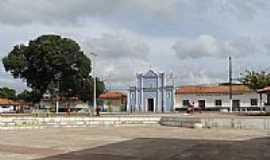 C�ndido Mendes - Pra�a e Igreja de N.Sra.da Concei��o em C�ndido Mendes-MA-Foto:Maur�cio Leonardi