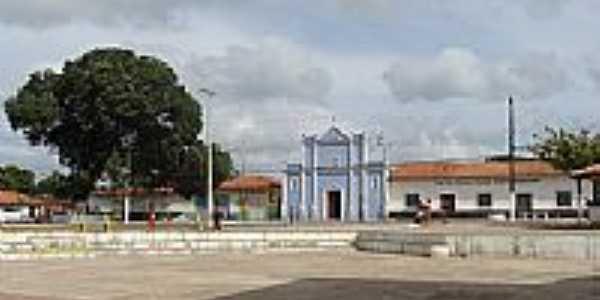 Praça e Igreja de N.Sra.da Conceição em Cândido Mendes-MA-Foto:Maurício Leonardi