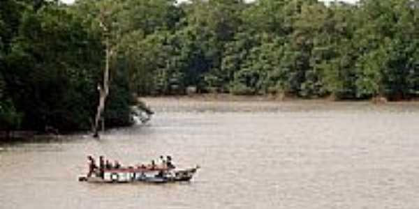 Travessia do rio em Cândido Mendes-MA-Foto:Maurício Leonardi