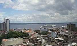 Manaus - Manaus-AM-Centro da cidade e o Rio Negro-Foto:marcelotec