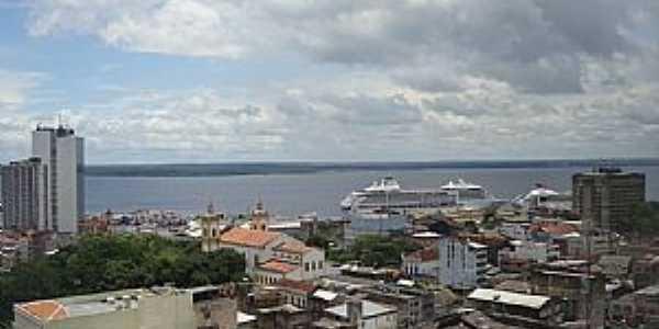 Manaus-AM-Centro da cidade e o Rio Negro-Foto:marcelotec
