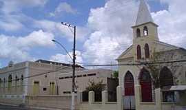 Codó - Codó-MA-Igreja e Prefeitura-Foto:Antônio Brandão
