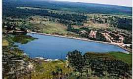 Lagoa do Mato - Lagoa do Mato-MA-Vista aérea da lagoa-Foto:Josué R. Guimarães