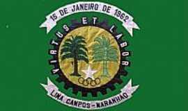 Lima Campos - Bandeira da cidade de Lima Campos-MA