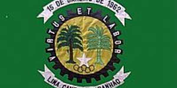 Bandeira da cidade de Lima Campos-MA