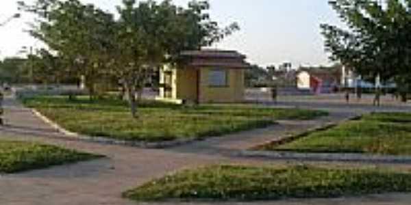 Vista parcial da Praça de Eventos em Lima Campos-Foto:Ribinha