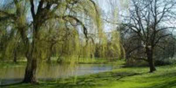 Praça e lago-Foto:Francimar martins pereira