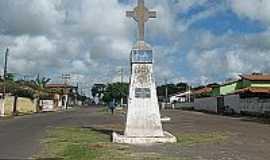 Palmeirândia - Cruzeiro na praça de Palmeirândia-MA-Foto:palmeirandiamunicipio.
